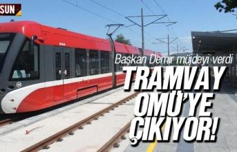 Tramvay, fakülte hastanesine Üniversiteye (OMÜ)...