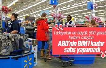 Türkiye'nin en büyük 500 şirketinin toplamı...