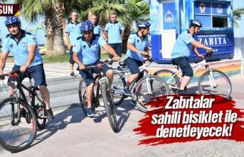 Zabıtalar, Atakum sahilini bisiklet ile denetleyecek
