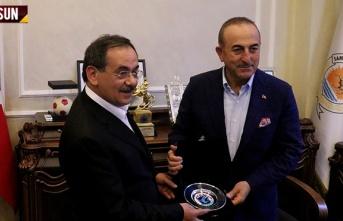 Dışişleri Bakanı Mevlüt Çavuşoğlu Samsun'a...