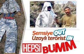 Kostümle korunmaya çalışan PKK'lı terörist...
