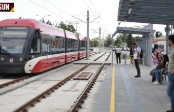 Kurban bayramında Samsun'da tramvay ve otobüsler...