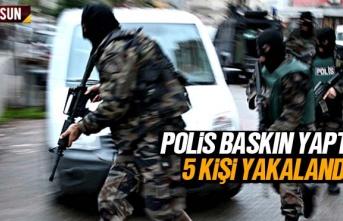 Samsun Çarşamba'da polis baskınında 5 kişi...