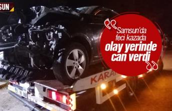Samsun'da trafik kazasında Serkan Balcancı...