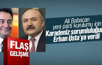 Ali Babacan, yeni parti kurulumu için Karadeniz sorumluluğunu...