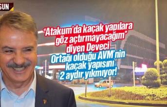 Atakum Belediyesi City Mall AVM'nin kaçak yapısını...
