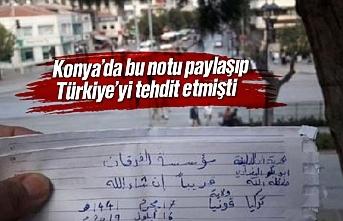 Bu notu paylaşıp Türkiye'yi tehdit etmişti