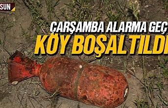 Çarşamba'da torpido alarmı, köy boşaltıldı