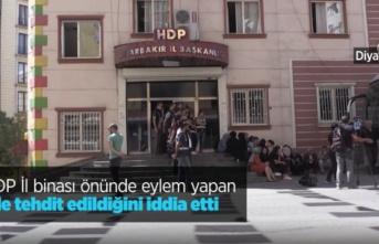 HDP İl binası önünde eylem yapan aile tehdit edildiğini iddia etti