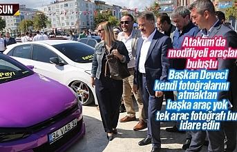 Modifiye araç tutukunları Samsun Atakum'da...