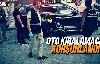 Samsun'da oto kiralamacı kurşunlandı