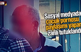 Samsun'da sosyal medyada çocuk pornosu paylaşımı...
