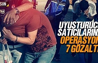 Samsun'da uyuşturucu satıcıları gözaltına...