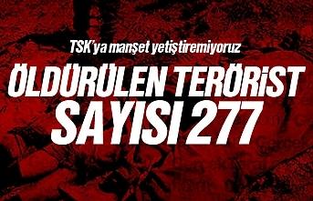Barış Pınarı Harekatı'nda toplamda 277 terörist öldürüldü
