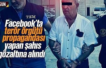 Facebook'ta terör örgütü propagandası yapan...