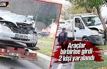 Samsun Canik'te trafik kazası 2 yaralı