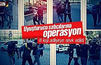 Samsun'da uyuşturucu satıcılarına operasyon