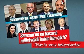 Samsun'un en başarılı milletvekili bakın kim çıktı?