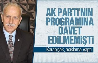 Abdullah Karapıçak, davet edilmeme olayı için açıklama yaptı