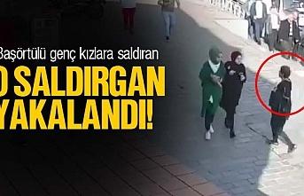 Başörtülü genç kızlara saldıran o kadın yakalandı, video haber