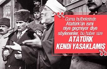 Cuma hutbelerinde neden Atatürk ismi geçmiyor
