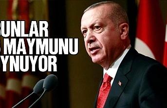 Erdoğan, 'Bunlar 3 maymunu oynuyor'