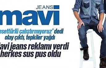 Mavi jeans tesettürlü çalıştırmıyoruz cevabı