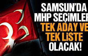 MHP Samsun İl Başkanlığı seçimine tek aday ile...