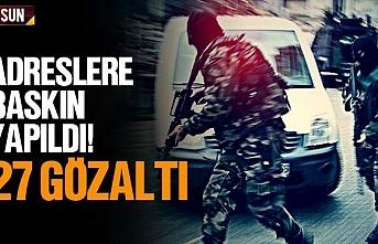 Samsun'da yapılan operasyonda 27 kişi yakalandı