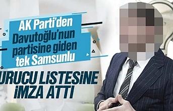 Ahmet Davutoğlu'nun partisine Samsun'dan AK Partili bir isim gitti
