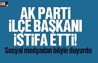 AK Parti Atakum İlçe Başkanı Haluk Köksoy istifa etti