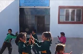 Barış Pınarı Müşrifet El Havi İlkokulunda çocuk...