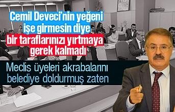Cemil Deveci, meclis üyelerine resti çekti