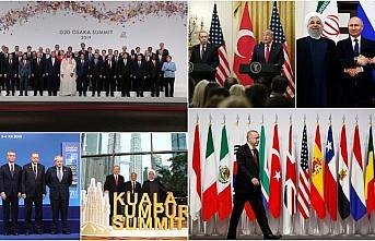 Cumhurbaşkanı Erdoğan'ın 2019 mesaisi yoğun geçti