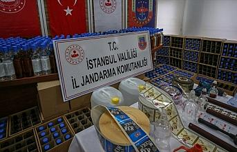 İstanbul'da 5 ton sahte içki ele geçirildi
