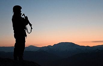 Jandarma ekiplerince ikna edilen PKK'lı terörist...