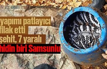 PKK'lı teröristlerin tuzakladığı el yapımı patlayıcı infilak etti 2 şehit 7 yaralı