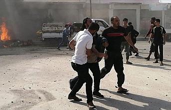 PKK/YPG'nin Cerablus'ta iki motosikleti patlatması...