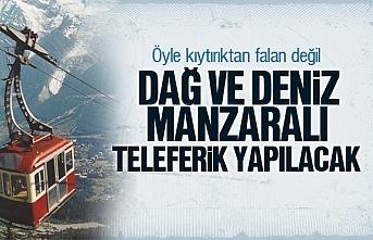 Samsun'a Dağ ve Deniz manzaralı teleferik hattı...