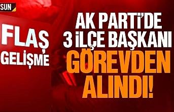 Samsun AK Parti'de 3 ilçe başkanı görevden alındı