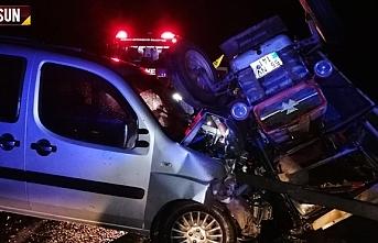 Samsun Bafra'da kaza, 4 yaralı