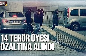 Samsun'da 14 terör üyesi gözaltına alındı