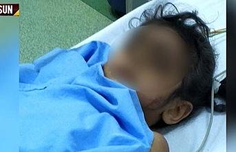 Samsun'da 4. kattan düşen 4 yaşındaki Hacer Şutur ağır yaralandı