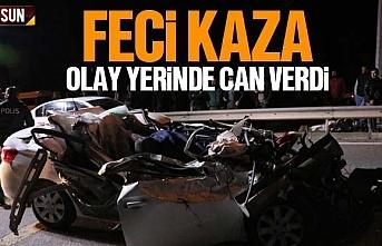 Samsun'da otomobil tırın altına girdi, Ertan...