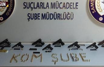 Samsun'da silah operasyonunda 2 kişi tutuklandı