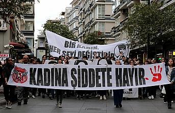 Samsun'da liseliler kadına şiddete hayır dedi