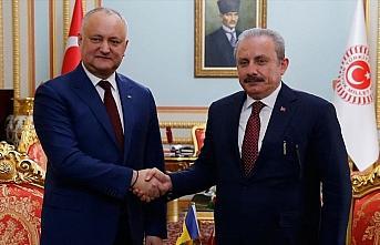TBMM Başkanı Şentop, Moldova Cumhurbaşkanı Dodon...