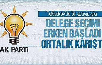 Tekkeköy'de delege seçimi erken başladı, ortalık...