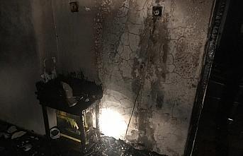 Televizyon tüpünün patlaması sonucu yangın çıkan...