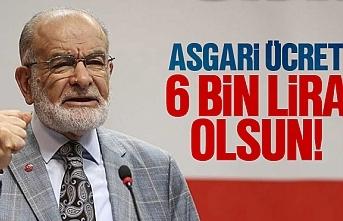 Temel Karamollaoğlu, 'Asgari ücret 6 Bin lira olsun'